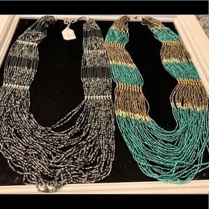 Jewelry - New seed bead multi-strand India necklaces